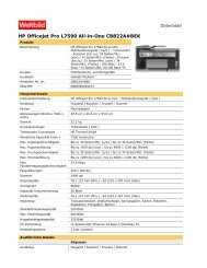 HP Officejet Pro L7590 All-in-One CB822A#BEK - Weltbild.at