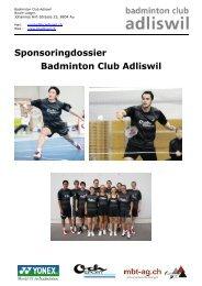 Sponsoringdossier 2011 - Badminton Club Adliswil