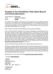 Hotel, Berlin Besuch und Anreise jetzt planen - Fair-news.de