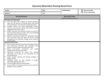 Running Record Form Download Running Record Sheet For Free Formxls ...