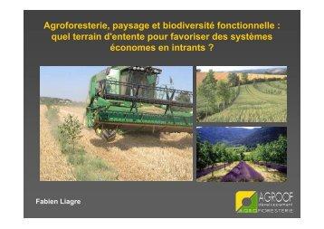Agroforesterie, paysage et biodiversité ... - Arbre & Paysage