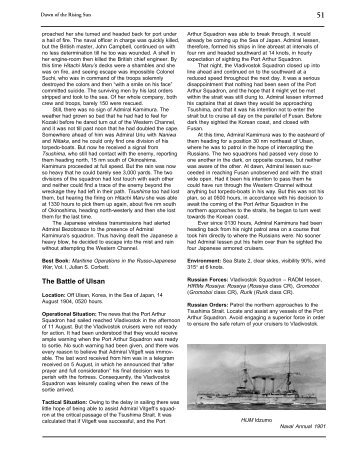 The Battle of Ulsan - The Naval Wargames Society