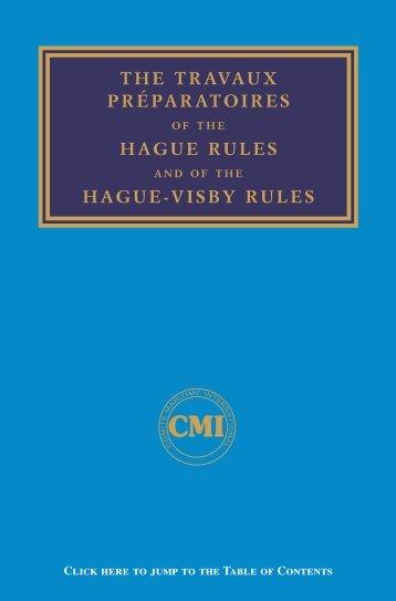 the travaux préparatoires hague rules hague-visby rules - Comite ...