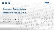Company Presentation Imtech Polska Sp. z o.o.