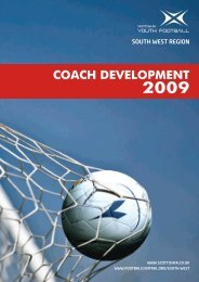 Coach development 2009 - Scottish Football Association