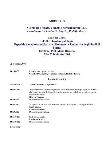 1° Corso Nazionale IEC – SIED. - Endoscopia Diagnostica e Operativa