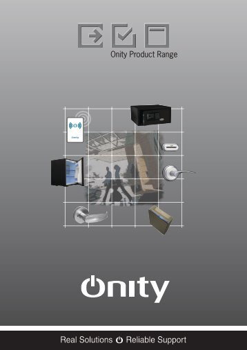 Onity Product Range - ENTRY SYSTEMS, sro