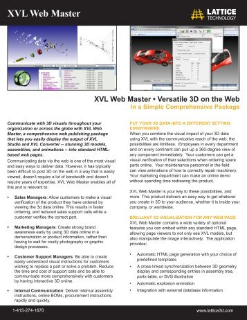 XVL Web Master - Lattice Technology