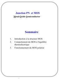 1. CAO des circuits analogiques - Jonction PN et structure MOS