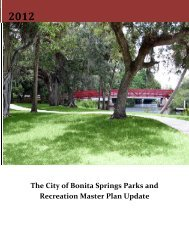 City of bonita Springs Parks and Recreation Master Plan update