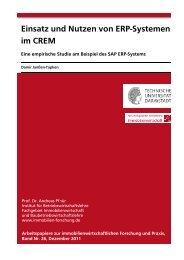 Einsatz und Nutzen von ERP-Systemen im CREM - Technische ...