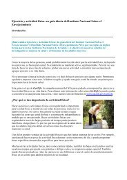 Ejercicio y actividad física: su guía diaria del Instituto Nacional ...