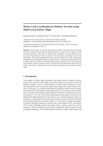 Monte Carlo Localization in Outdoor Terrains using Multi-Level ...