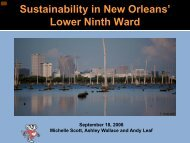 Sustainability in New Orleans' Lower Ninth Ward - American ...
