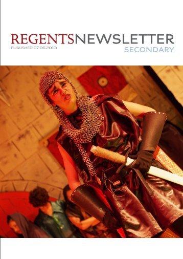Secondary Newsletter 7th June 2013 - Regents School