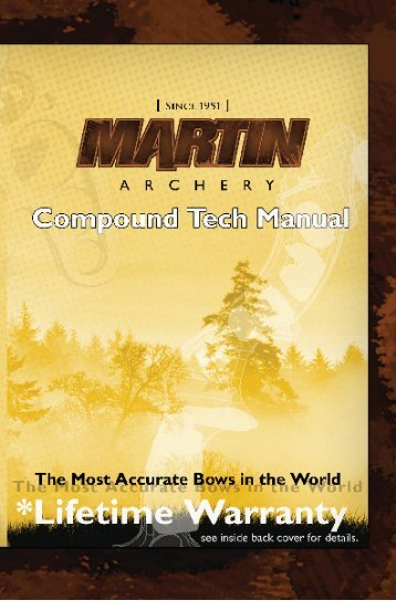 TABLE OF CONTENTS - Martin Archery