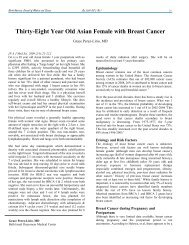 Thirty-Eight Year Old Asian Female with Breast Cancer