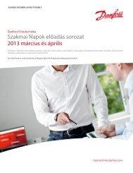 Danfoss Fűtéstechnika Szakmai Napok 2013 meghívó