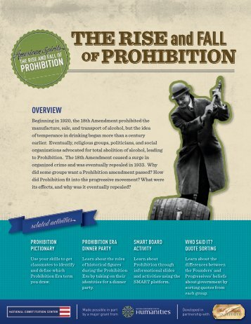 Prohibition Essay - American Spirits: The Rise and Fall of Prohibition ...