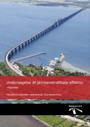 Undersøgelse af jernbanetrafikale effekter - Banedanmark