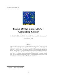 Status Of the Bonn EUDET Computing Cluster