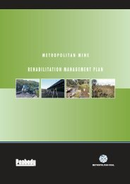 Metropolitan Mine Rehabilitation Management Plan - Peabody Energy