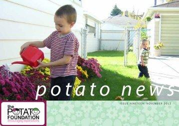 November 2012 Newsletter - The Potato Foundation