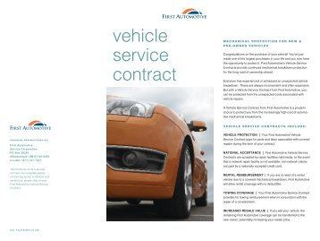 Vehicle Service Contract   Rockledge Securities