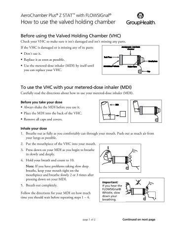 how to clean my flovu plus aerochamber hospital