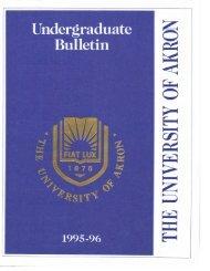 Calendar 1995-96 - The University of Akron
