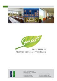 SMART TAgen iM ATLANTiC HoTeL ... - ATLANTIC Hotels