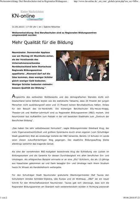 Mehr Qualität für die Bildung - Theodor-Litt-Schule - Stadt Neumünster