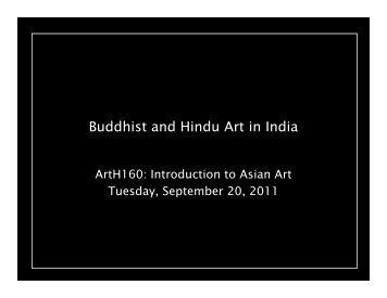 Buddhist and Hindu Art in India