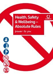 Health, Safety & Wellbeing – Absolute Rules - Vodacom