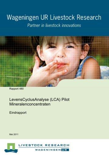 Vries et al 2011. LCA Pilots Mineralenconcentraten Final (3)x