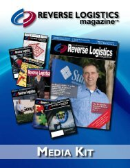 MEDIA KIT - Reverse Logistics Magazine