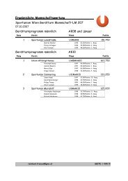 Riegenwertung - Sportunion Währing