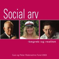 2003 Social arv - begreb og realitet. - Susi og Peter Robinsohns Fond