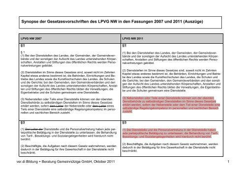 zur Synopse (pdf-Datei) - ver.di b+b