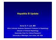 Hepatitis B Update - Hepatitis C