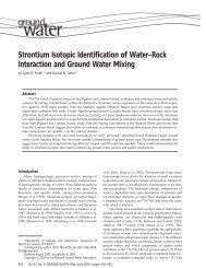 Strontium Isotopic Identification of Water-Rock Interaction and ...