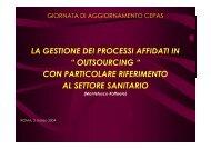 """la gestione dei processi affidati in """" outsourcing """" con ... - Cepas"""