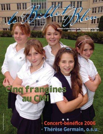 Cinq frangines au CMI Cinq frangines au CMI - Le Billet Bleu