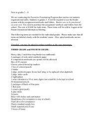 School Supplies List Pdf 3rd 8th Grade Children Of Peace School