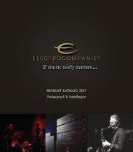 PRODUKT KATALOG 2011 Profesjonell & Installasjon