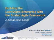 Building the Lean Agile Enterprise with the Scaled ... - Rally Software