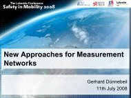 New Approaches for Measurement Networks - Lakeside Conference