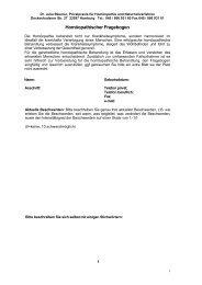 Homöopathie Fragebogen