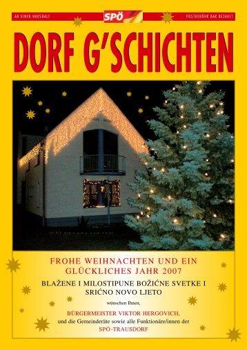 Dorfgschichten Dezember 2006 - bei der SPÖ Trausdorf