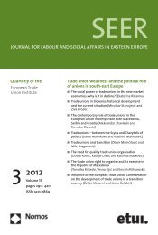 JOuRnAl fOR lABOuR AnD SOCiAl AffAiRS in EASTERn EuROpE